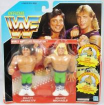 WWF Hasbro - The Rockers : Marty Jannetty & Shawn Michaels (Spain card)