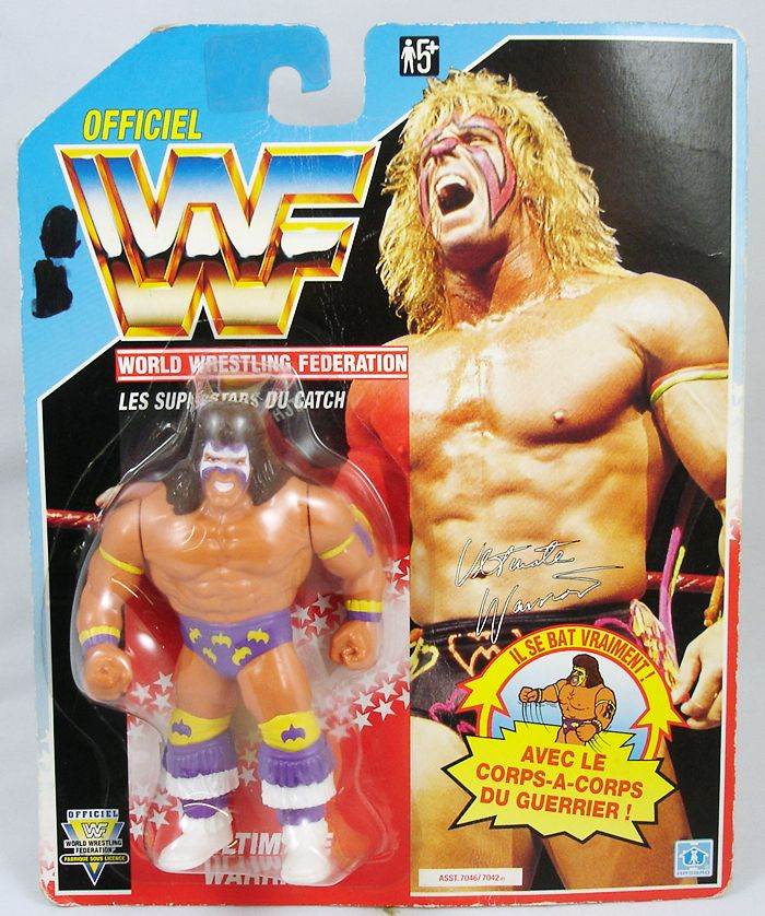WWF Hasbro - Ultimate Warrior v.3 (France card)