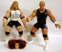 WWF Jakks - The J.O.B. Squad : Al Snow & Bob Holly (loose)