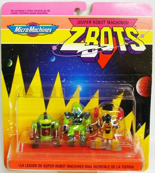 Zbots Micro Machines - Shleppy, Zidor, Monicon - Galoob Famosa