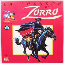 Zorro - Disque 45T La Chanson de Zorro - Disques Ades 1985