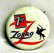 Zorro - pin button by 7up