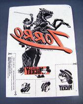 Zorro - T-Shirt Transfers offered by Mickey Mouse Magazine (France 1985)