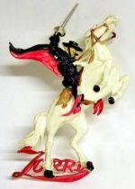 Zorro on white horse - Disney plastic embossed figure