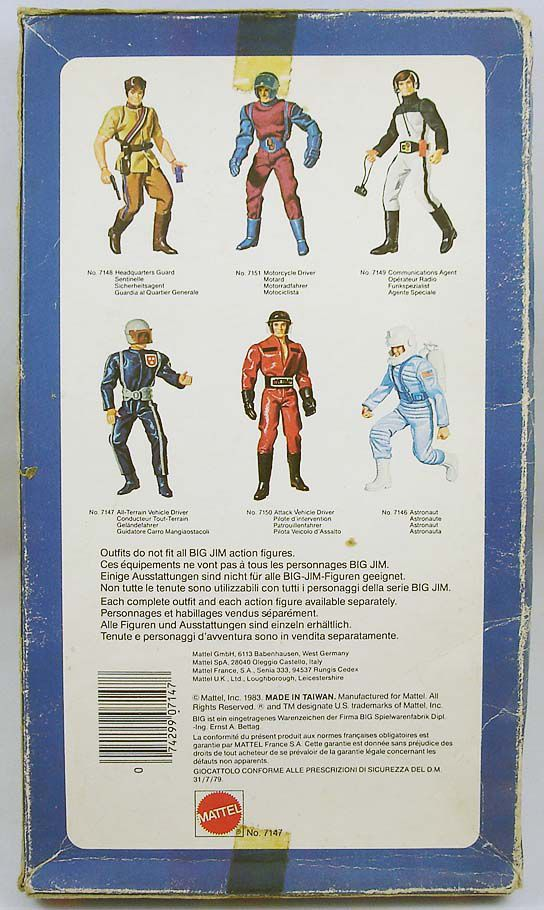Big Jim - Spy series - All-Terrain Vehicle Driver outfit (ref.7147)