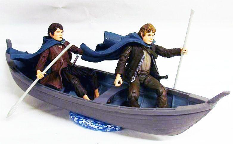 Le Seigneur des Anneaux - Frodon et Sam en barque elfique - loose