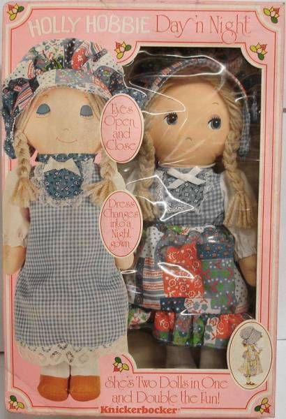 14\'\' Stuffed doll Mint in Box Holly Hobbie Day \'n Night