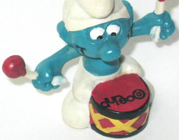 20009 Drummer Smurf Dureo advertising