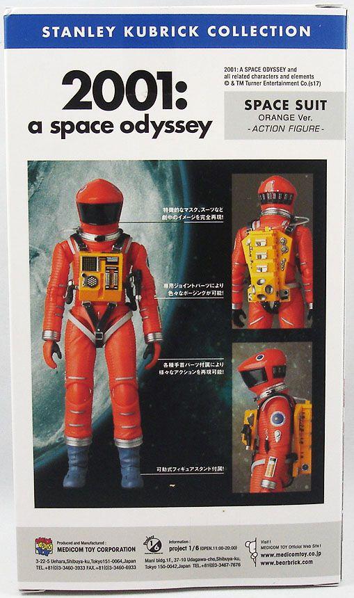 2001 L\'Odyssée de l\'espace - Medicom Figurine Mafex 17cm - Space Suit (orange ver.)