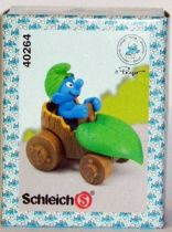 40264 Smurf with leaf car (Mint in New Look Box)