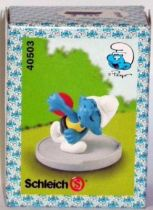 40503 Smurf Disc thrower (Mint in New Look Box)