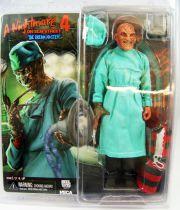 "A Nightmare on Elm Street 4 (The Dream Master) - Surgeon Freddy Krueger - 8\"" clothed retro figure - NECA"