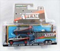 A-Team - Greenlight Hollywood - 1:64 scale 1983 GMC Vandura, 2015 Chevrolet Silverado & Hauler (diecast)