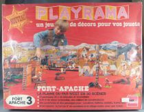 Abax France - Playrama - Fort Apache & Plaine Far-West Décor 4,5 metres pour Figurine 54/70 mm