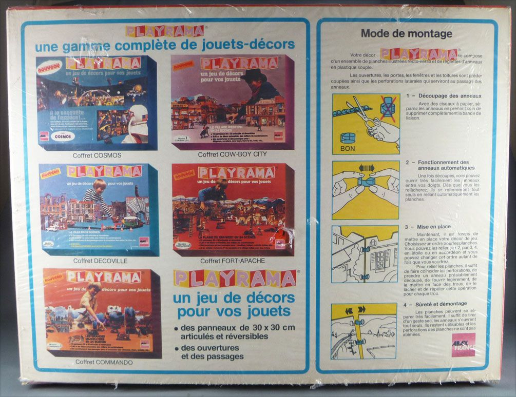 Abax France - Playrama - Fort Apache & Plaine Far-West Décor 4,5 metres pour Figurine 54/70 mm