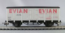 AcHo 7130 Ho Sncf Evian Covered Wagon 2 Axles Grey Livery