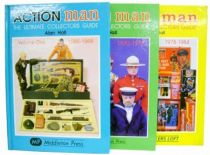 Action Man \'\'The Ultimate Collectors Guide\'\' by Alan Hall - Vol.1 (1966-1969), Vol.2 (1970-1977) & Vol.3 (1978-1984) - Middl