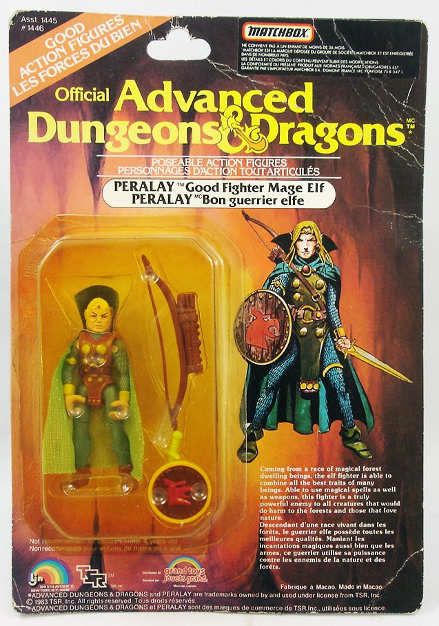 Advanced Dungeons & Dragons - LJN - Peralay (Canada card)