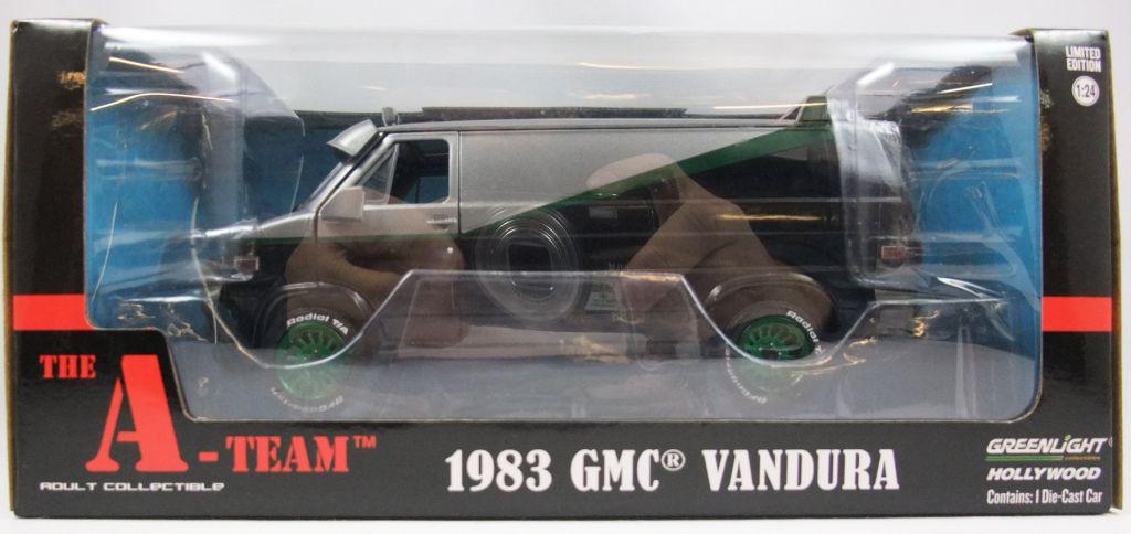 Agence Tous Risques - Greenlight Hollywood - 1983 GMC Vandura (jantes vertes) 1/24ème