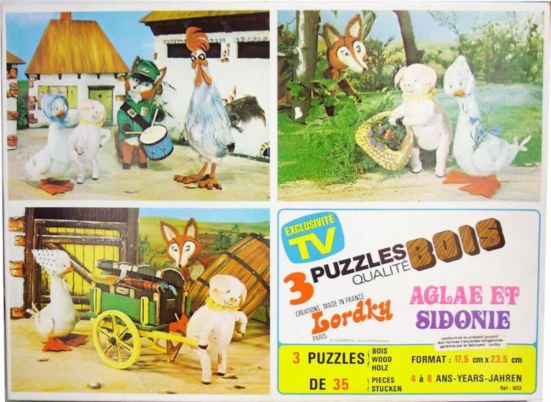 Aglae et Sidonie - Boite de 3 puzzles en bois - Lordky