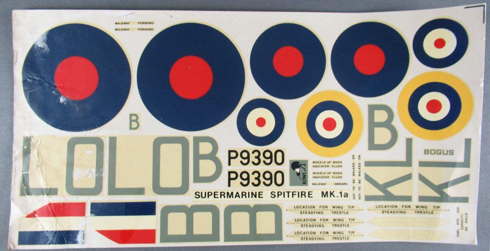Airfix - N°12001-6 Livret Notice d\'Assemblage & Décalcos du Spitfire Supermarine Mk. 1a 1/24