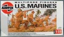 Airfix 04583 Multipose Figures WW2 US Marines Pacific Campaign 12 Figurines 1/32 Boite 1988 1