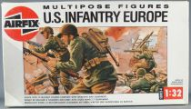 Airfix 04586 Multipose 12 Figures WW2 US Infantry Europe 1:32 with 1988 Box