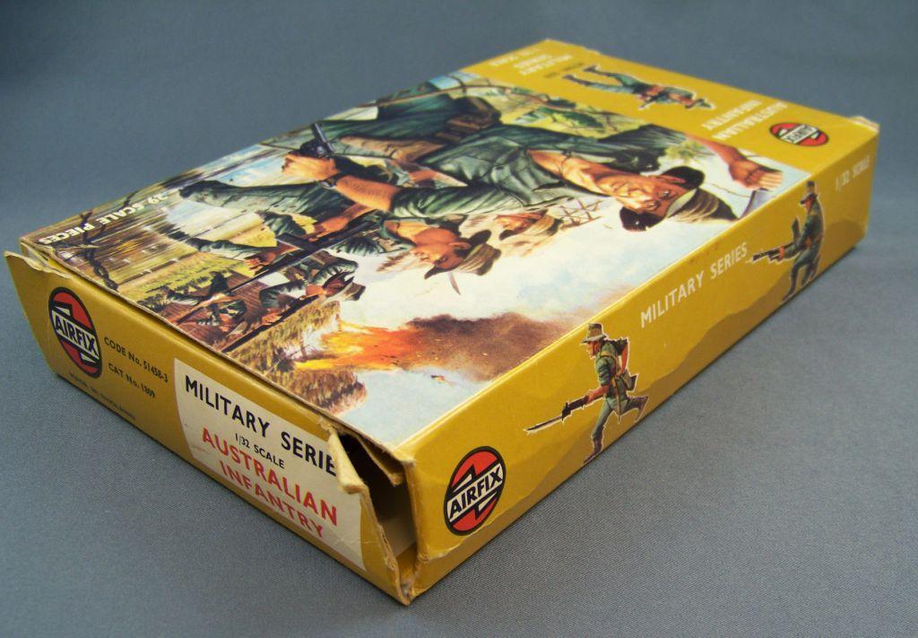 Airfix 1/32 WW2 Australian Infantry (1973 Brown Box) Complete