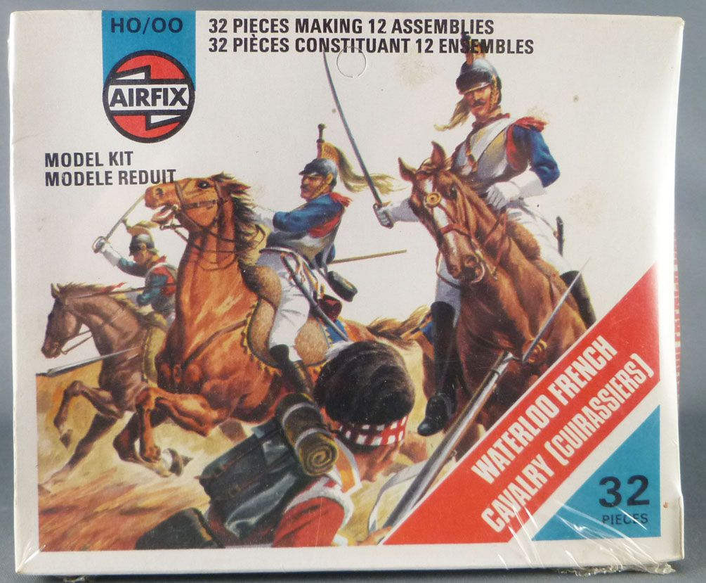 Airfix 1:72 S36 Waterloo French Cavalry (Cuirassiers)  Mint in 1975 Type4 Sealed Wrapped Box