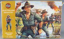 Airfix 51458-3 32° WW2 Australien Infanterie Boite marron 1973 Complète 29 pièces
