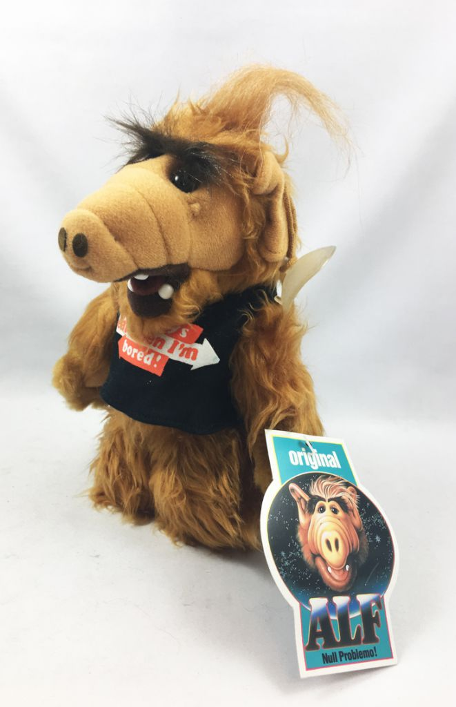 """ALF - 10inch Plush with Suction \""""I always eat when I\'m bored!\"""" (1988)"""