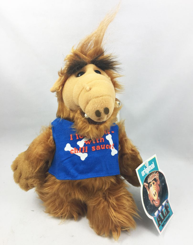 """ALF - 10inch Plush with Suction \""""I love eats cats with Chili sauce!\"""" (1988)"""