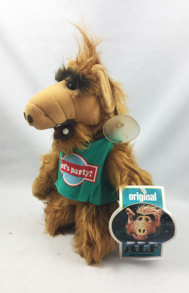 """ALF - 10inch Plush with Suction \""""Let\'s Party!\"""" (1988)"""