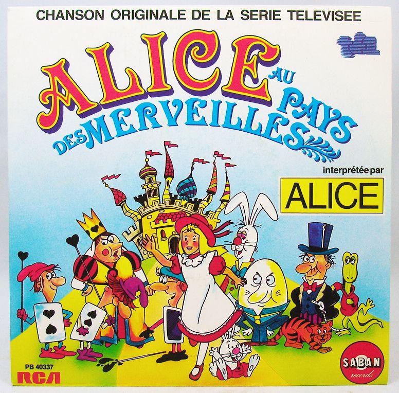 Alice in Wonderland - Mini-LP Book-Record - TV Series Original Soundtrack - Saban Records 1985