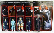 Alien - ReAction - Set of 5 figures : Ripley, Ash, Dallas, Kane & the Alien