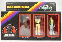 Alien - ReAction - USCSS Nostromo action-figure set : The Alien, Parker & Brett