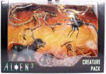 Alien 3 - NECA - Creature Pack : Queen-Burster, Queen Facehugger, Rottweiler, Bambi-Burster