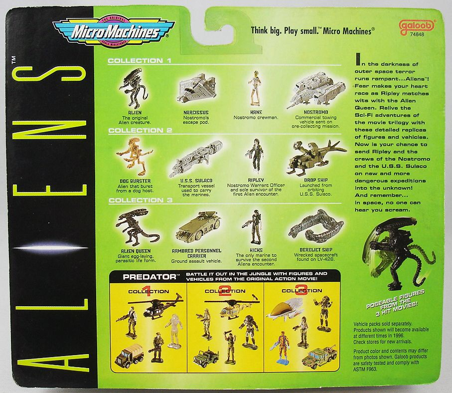 Aliens - Galoob - Micro Machines Aliens Collection set #1