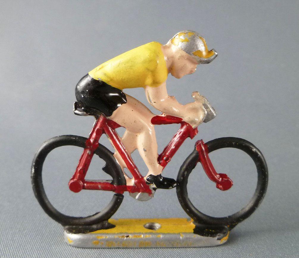 Aludo - Cycliste Métal - Maillot Jaune Rouleur Socle Épais Tour de France 2