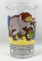 """Amora (verre à moutard) - Série Dinosaures - Le Tricératops \""""Le cuirassé vivant\"""""""