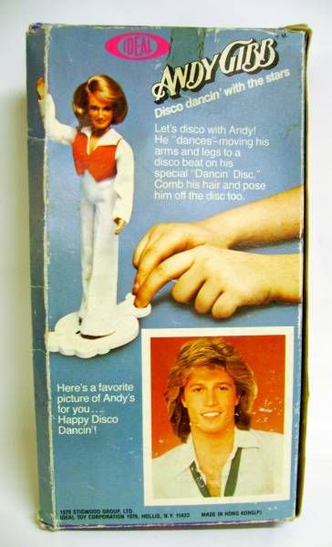 Andy Gibb - 8\'\' Doll with Disco dance stand - IDEAL 1977