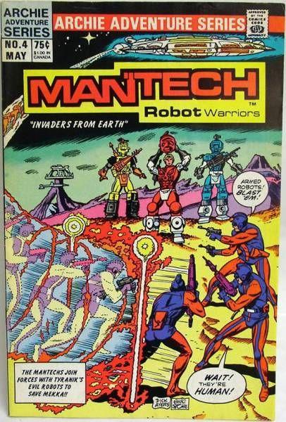 Archie Adventure Series Comics - Mantech Robot Warriors #4