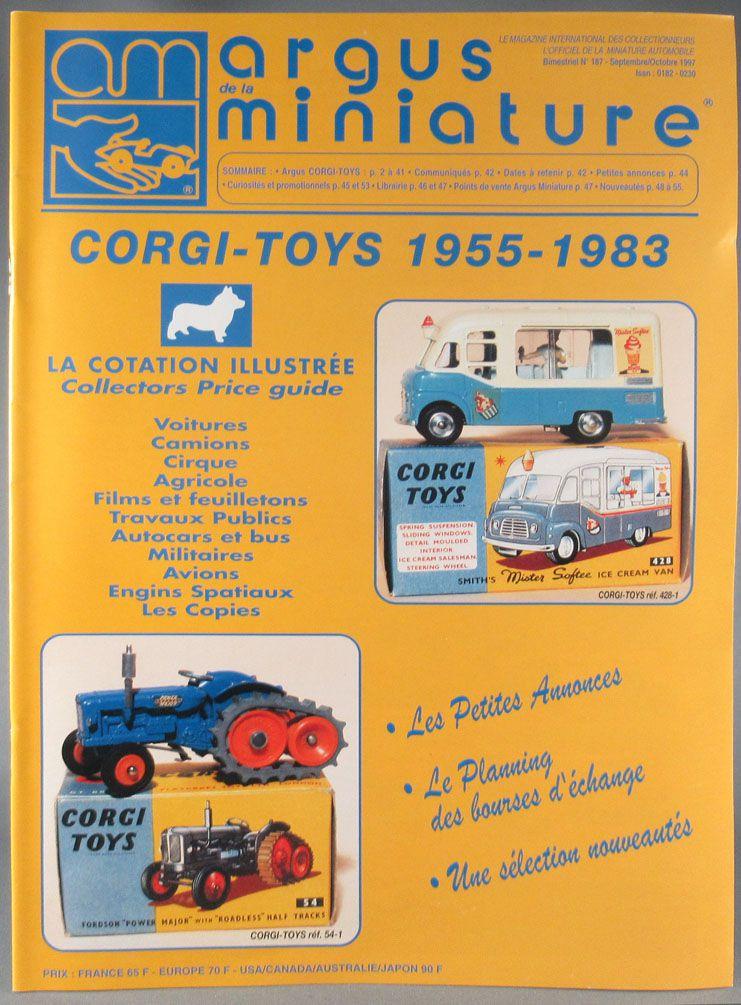Argus de la Miniature N°187 - Spécial Corgi 1955-1983 56 Pages 1997