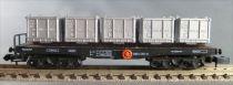 Arnold 4955 Ech N Db Wagon Charge Lourde à bogie Type SSkms 5 Conteneurs Acier