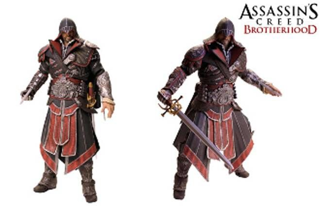 Assassin\'s Creed Brotherhood - Ezio Ebony Assassin - Figurine Player Select NECA