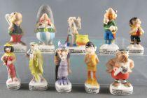 Asterix - 2000 Complete Set 10 Mat Porcelain Bean-figures