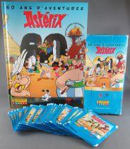 Asterix - 42 Pochettes de 3 vignettes Panini + Album + Boite - 60 ans d\'aventures