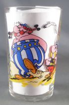Asterix - Amora Mustard glass with © série - Asterix Obelix Vitalstatitix walking
