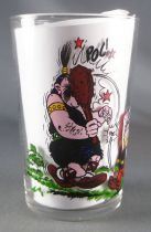 Asterix - Amora Mustard glass with © Séries - Asterix beating a barbarian