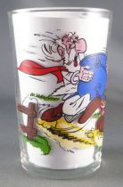 Asterix - Amora Mustard glass with © series - Asterix crosses crazy Panoramix
